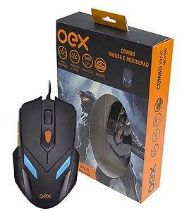 Combo Mouse e Mouse Pad MC100 - Oex