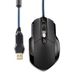 Mouse Multilaser Warrior Gamer Pro Laser USB 8 Botões 3.200 Dpi + Mousepad - MO191