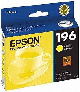 Cartucho de Tinta 196 Amarelo Epson