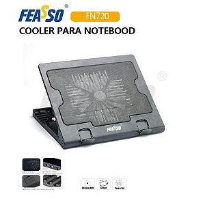 Suporte P/ Notebook Feasso FN-720 C/ Cooler e Elevação