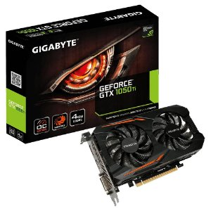 Placa de Vídeo VGA NVIDIA GIGABYTE GEFORCE GTX 1050 Ti OC 4G - GV-N105TOC-4GD