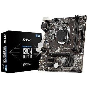 Placa-Mãe MSI p/ Intel LGA 1151 mATX H310M PRO-VDH 2DDR4