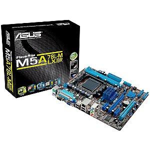 Placa-Mãe ASUS p/ AMD AM3+ mATX M5A78L-M LX/BR, 2xDDR3