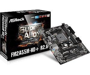 Placa-Mãe ASRock p/ AMD AM3+ mATX FM2A55M-HD+ R2.0