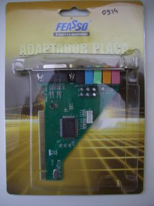 Placa Pci De Som Feasso FPSOM-02