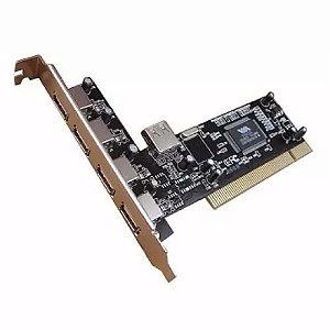 Placa Pci Feasso JPU-01 para 4+1 Portas USB