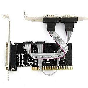 Placa PCI Serial 2 Portas + Porta Paralela Jikatec KPE-702