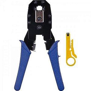 Alicate para Crimpar com Chave Keystone HYX Azul - ALC-01