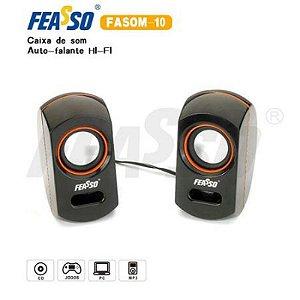 Caixa de Som Feasso Hi-Fi 2.0 - FASOM-10