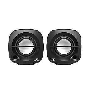 Caixa de Som C3 Tech Speaker 2.0 3W Preta - SP-303BK