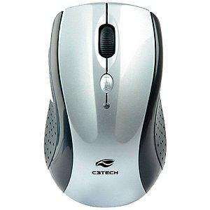 Mouse Sem Fio Óptico C3 Tech Prata - M-W012SI