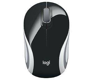 Mini Mouse Sem Fio Preto Logitech - M187