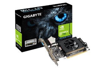 Placa de Vídeo VGA NVIDIA GIGABYTE GEFORCE GT 710 2GB DDR3 Low Profile GV-N710D3-2GL