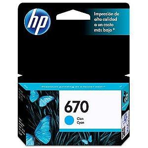 Cartucho de Tinta 670 Azul HP