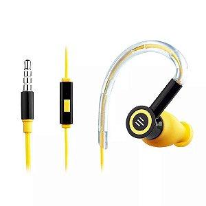 Fone De Ouvido Silicone Earhook Preto/Amarelo Multilaser - PH221