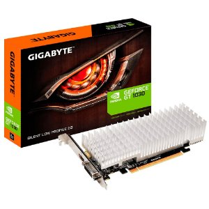 Placa de Vídeo VGA NVIDIA GIGABYTE GEFORCE GT 1030 2GB GDDR5 Silent Low Profile GV-N1030SL-2GL