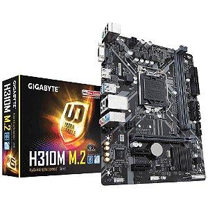 Placa-Mãe GIGABYTE Intel LGA 1151 DDR4 - H310M M.2