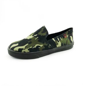 Tênis Slip On Quality Shoes 004 Camuflado Sola Preta