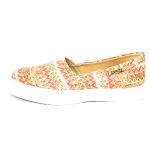 Tênis Slip On Quality Shoes Feminino 002 Étnico Laranja