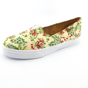 Tênis Slip On Quality Shoes 002 Feminino Floral Amarelo 202
