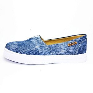 Tênis Slip On Quality Shoes Feminino 002 Jeans