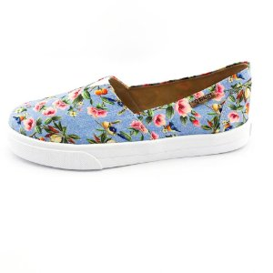 Tênis Slip On Quality Shoes Feminino 002 797 Jeans Floral