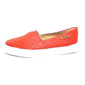 Tênis Slip On Quality Shoes Feminino 002 Matelassê Vermelho