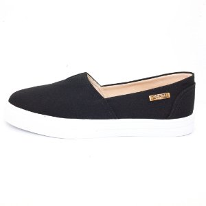 Tênis Slip On Quality Shoes Feminino 002 Preto Lona