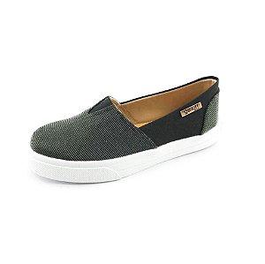 Tênis Slip On Quality Shoes Feminino 002 Multicolor Preto/Preto