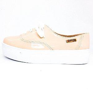 Tênis Flatform Quality Shoes Feminino 005 Verniz Nude