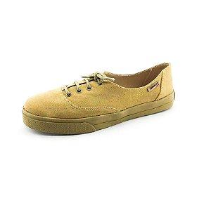 Tênis Quality Shoes Feminino 005 Camurça Caramelo Sola Caramelo