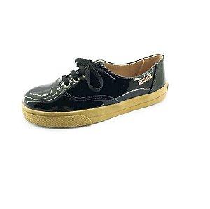 Tênis Quality Shoes Feminino 005 Verniz  Preto
