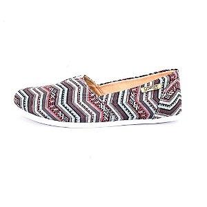 Alpargata Quality Shoes Feminina 001 Étnico Azul