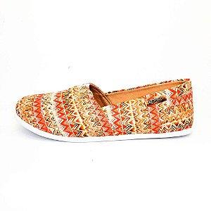 Alpargata Quality Shoes Feminina 001 Étnico Laranja