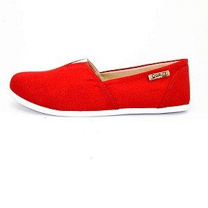 Alpargata Quality Shoes Feminina 001 Lona Vermelha
