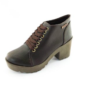 Bota Coturno Quality Shoes Feminina Marrom