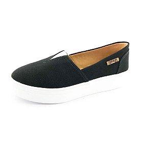 Tênis Flatform Quality Shoes Feminino 003 Lona Preta