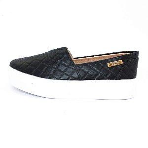 Tênis Flatform Quality Shoes Feminino 003 Matelassê Preto