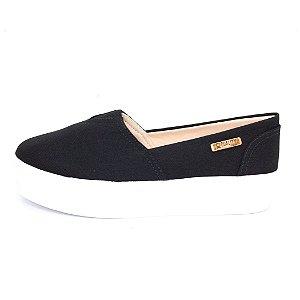 Tênis Flatform Quality Shoes Feminino 003 Lona Preto