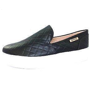 Tênis Flatform Quality Shoes Feminino 004 Matelassê Preto