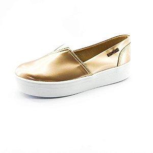 Tênis Flatform Quality Shoes Feminino 003 Verniz Metalizado