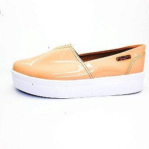 Tênis Flatform Quality Shoes Feminino 003 Verniz Nude