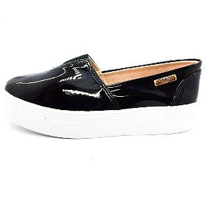 Tênis Flatform Quality Shoes Feminino 003 Verniz Preto
