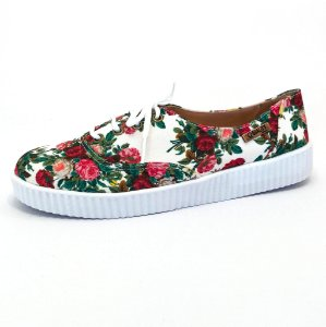 Tênis Creeper Quality Shoes Feminino 005 Floral 209