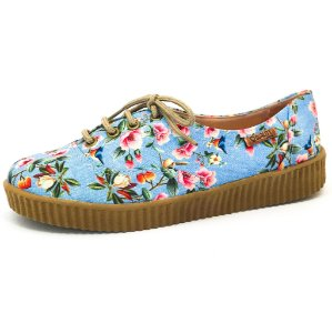 Tênis Creeper Quality Shoes Feminino 005 Floral 797
