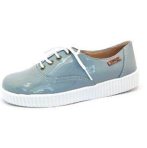 Tênis Creeper Quality Shoes Feminino 005 Verniz Cinza