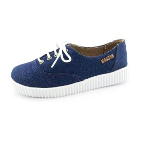 Tênis Creeper Quality Shoes Feminino 005 Jeans Escuro