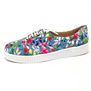 Tênis Creeper Quality Shoes Feminino 005 Floral 214