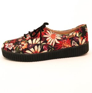 Tênis Creeper Quality Shoes Feminino 005 Floral 796