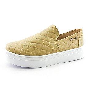 Tênis Flatform Quality Shoes 004 Matelassê Bege